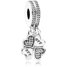 Pandora Charm - Sterling Silver & Cubic Zirconia Best Friends Forever,... ($60) ❤ liked on Polyvore featuring jewelry, pendants, silver, pandora charms, charm jewelry, sterling silver jewelry, cubic zirconia jewelry and cz jewellery
