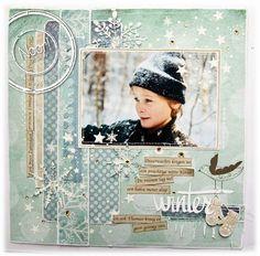 Winter Themed Scrapbook Layouts | 12X12 layouts | Scrapbooking Ideas | Creative Scrapbooker Magazine #winter #scrapbooking #12X12layout