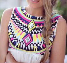 love this ethnic print dress. so colorful.