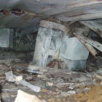 Crawlspace moisture can lead to more than mold.wood rot and structural damage can ensue! Mobile Home Redo, Mobile Home Repair, Mobile Home Living, Mobile Home Decorating, Building Foundation, Foundation Repair, House Foundation, Mobile Home Renovations, Home Remodeling