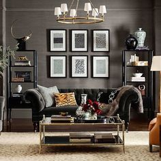 South Shore Decorating Blog: Black Sofa Anyone? Yes Please!