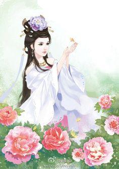 @恋姬采集到倾城色(1436图)_花瓣插画/漫画