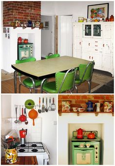 this would be fun!  funky retro kitchen fun - Lucy King