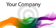 Color dynamic lines modern abstract business background