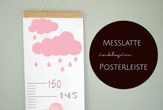 Kinderzimmerdekoration - Messlatte mit Posterleiste - ein Designerstück von stil-arten bei DaWanda