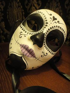 "Ophelia Mask - Day of the Dead Blake Lively in Savages Ophelia ""O"" Sage Dia De los Muertos Calavera Sugar Skull mask. $98.00, via Etsy."
