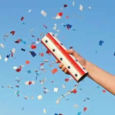 DIY Confetti Launchers - use birdseed or sprinkles so clean up is less of a hassle.