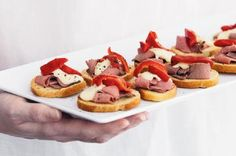 Impress guests with these easy to prepare roast beef canapes.