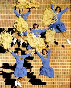 "U.C.L.A. Cheerleaders; the ""Song Girls"", 1959    Life - times have changed - my granddaughter's uniform looks nothing like this."