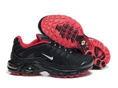 promo code 786c7 13130 Chaussures de Nike Air Max Tn Requin Homme Noir et Rouge Acheter Tn