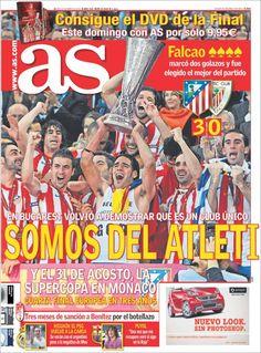 Somos del Atleti Uefa League, Newspaper Cover, Europa League, My Images, Comic Books, Adventure, Comics, Friends, Hs Sports