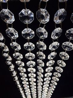 Clear Crystal Beads For Gril Clear Chandelier Bead Lamp Chain For Wedding Party Tree Garlands Decoration Hair Extensions & Wigs Diy Jewelry Making Links, Rings & Tubes