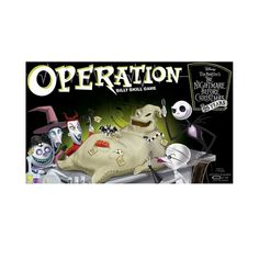 Fans of Tim Burton's The Nightmare Before Christmas will enjoy a healthy amount of fun with this special edition of the classic Operation game. Test your surgical skills as you remove custom Funatomy parts from Oogie Boogie, the patient. Nightmare Before Christmas Film, Operation Game, Resort Logo, Preschool Gifts, Oogie Boogie, Experience Gifts, Disney Sketches, Family Game Night, 7 Year Olds