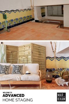 We transformed a space to store a boat into a cozy lounge with direct access to the beach. Home Staging in Costa Brava and Barcelona. Home Staging, Barcelona, Decorative Accents, Luxury Real Estate, Accent Decor, Costa, Lounge, Studio, Space