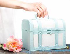 #Coffre en bois nautique - #boîte rustique Shabby Chic - Accueil et décoration salle de bain : Boîtes, coffrets par #openvintageshutters