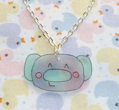 Kawaii Koala Necklace  Mint and Grey by NiNEFRUiTSPiE on Etsy, £2.50