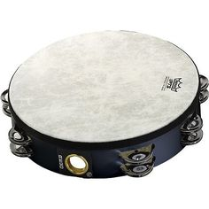Remo Fiberskyn Tambourine  Quadura Black 10 ** More info could be found at the image url.