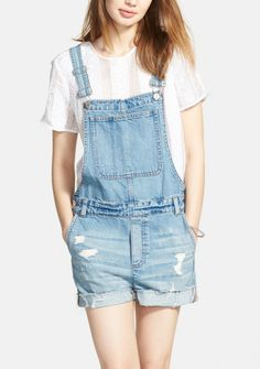 Pairing these adorable Madewell overalls with a roomy tote and white high-top Converse for a fun and effortless look.