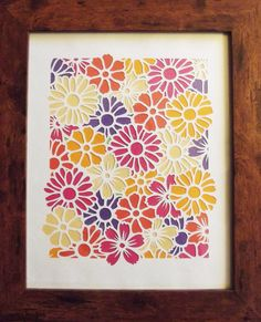 Spring Daisies DIY papercutting project by CraftyVectors