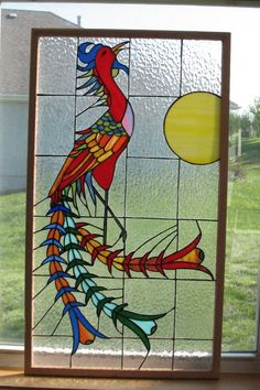 stained glass chineses | Stained Glass Chinese Phoenix on Etsy, $395.00