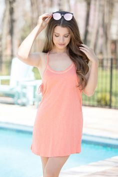 Leave My Worries Behind Cover Up Orange - The Pink Lily