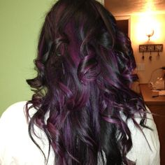 My black with purple highlights! Loved loved loved it!!