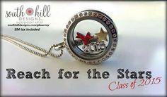 Get someone special this beautiful graduation locket Create Your Story, South Hill Designs, Locket Charms, Lockets, Reaching For The Stars, Beautiful One, My Happy Place, Personalized Jewelry, Bling