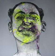 SOLD @SHE Art Gallery, Nuenen/Eindhoven.NL Romy v an Rijckevorsel - tWIIGI - 100x100 cm