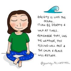 Remember that anxiety, like all emotions, will pass. Sometimes it is our reaction to anxiety that makes it so much worse. Anxiety Tips, Anxiety Help, Stress And Anxiety, Overcoming Anxiety, Paz Mental, Coaching, Therapy Tools, Play Therapy, Mental Health
