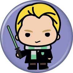 Harry Potter Draco Malfoy Pin Button - Purple