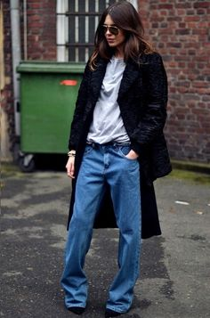 14 Street Style Photos That'll Have You Rethinking Skinny Jeans Street Style Chic, Looks Street Style, Looks Style, Looks Cool, Style Me, Fashion Week, Look Fashion, Fashion Photo, Fashion Beauty