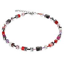 Signature Cube Necklace, Red, Pink, Black, White, Coeur De Lion Jewelry $222 Women's Bracelets, Pink Black, Cube, Earrings, Red, Jewelry, Beaded Necklaces, Ear Rings, Stud Earrings