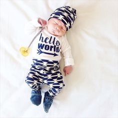 Welcome to Gigi and Max! This handmade outfit is beyond perfect for any sweet baby on the way. Pants and hat are made out of a super soft stretchy organic knit. The onesie is professionally Newborn Outfits, Baby Boy Outfits, Newborn Clothing, Kids Clothing, Kids Outfits, Baby Boy Newborn, Baby Kids, Baby Boy Photography, Urban Photography