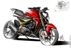 `concept motorcycle sketch