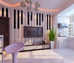 Amazing piano keyboard wall
