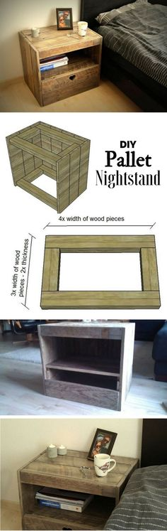 Check out how to build an easy DIY pallet nightstand @istandarddesign