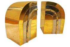 Art Deco-Style Brass Bookends on OneKingsLane.com