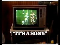 """Sony TV Set Commercial (1977) """"It's a Sony."""" Sony television set commercial featuring the TelePrompTer cable TV company (one of the largest providers in the '70s). Spot aired in November 1977. *Visit BionicDisco.com for 1970s pop culture fun.* Fair Use. No copyright infringement is intended. Posted for museum purposes only."""