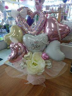 Fotos En Cumpleaños Balloon Basket, Balloon Box, Balloon Display, Balloon Gift, Balloon Bouquet, Balloon Table Centerpieces, Balloon Arrangements, Balloon Decorations, Birthday Decorations
