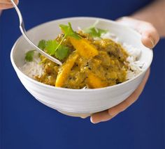 Creamy chicken & mango curry http://www.bbcgoodfood.com/recipes/2762671/creamy-chicken-and-mango-curry#