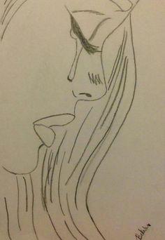 Sad drawings, easy drawings sketches, cute drawings of people, easy love drawings, Sad Sketches, Easy Drawings Sketches, Sad Drawings, Cool Art Drawings, Doodle Drawings, Drawing Ideas, Drawing Projects, Doodle Art, Easy Love Drawings
