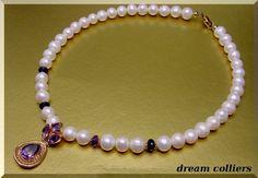 Amethyst - edles Amethyst Perlencollier - ein Designerstück von Dream-Colliers bei DaWanda
