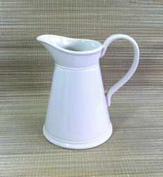 Vintage Weller Stoneware Pottery Large White by Nostalgicats, $21.00