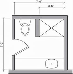 Can I push out my wall to get an 8x8 bathroom, leave me ...