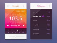 FM Radio by Aurélien Salomon #UX #UI #interface #dribbble #behance #designer #ramotion ramotion.com