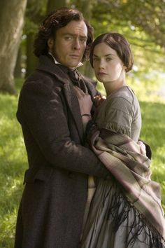 Toby Stephens as Edward Rochester and Ruth Wilson as Jane Eyre in Jane Eyre (TV Mini-Series, 2006). Period and costume drama. Charlotte Bronte