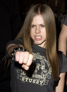 Avril Lavigne at an event for 8 Mile (2002)