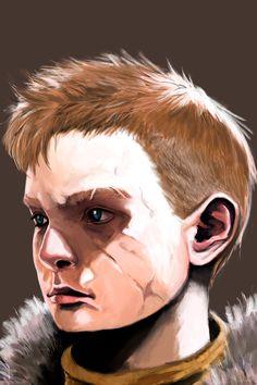 Portrait of Atreus from God of War.