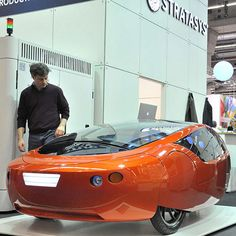 A fuel-efficient 3D-printed car is set to hit the road in two years, according to its US-based manufacturer RedEye On Demand.