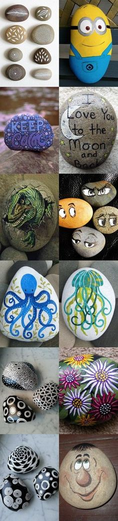 Hot to make DIY painted rocks - 30 Tutorials inspirational diagrams